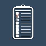 Alarm checklist. Vector Stock Images