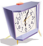 Alarm clock. Desperately calling alarm clock in vain tries to wake owners Stock Images
