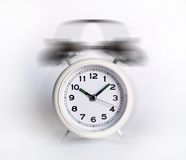 Alarm clock. Classic styled alarm clock over white Royalty Free Stock Image