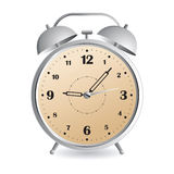 Alarm clock. Retro-styled alarm clock over white background royalty free illustration