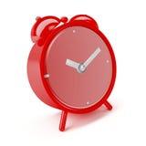 Alarm clock. Shiny red alarm clock isolated on white background Stock Image