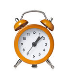 Alarm Clock. Orange Alarm Clock isolated on white background Stock Photos