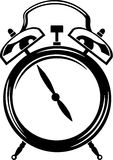 Alarm Clock. Line Art Illustration of an Alarm Clock Royalty Free Stock Photography