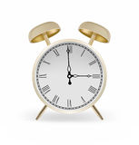 Alarm clock. Vector alarm clock golden color Royalty Free Stock Photography