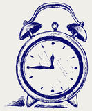Alarm clock. Doodle style. Vector Royalty Free Stock Image