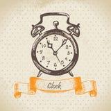 Alarm clock. Hand drawn illustration Royalty Free Stock Image