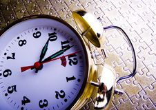 Alarm clock. Is an instrument that shows you what time it is Royalty Free Stock Images
