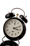 Alarm clock. Black alarm clock with reflection royalty free stock image