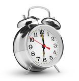 Alarm clock. Classical alarm clock on white background Royalty Free Stock Photography