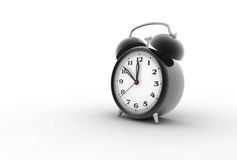 Alarm clock 3D. Retro alarm clock. Digitally generated image Royalty Free Stock Photo