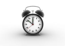 Alarm clock 3D. Retro alarm clock. Digitally generated image Stock Images