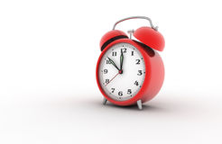Alarm clock 3D. Retro alarm clock. Digitally generated image Royalty Free Stock Images