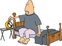 Alarm Clock. This illustration that I created depicts a man setting his alarm clock Royalty Free Stock Image