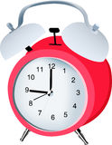 Alarm clock. A stylish retro alarm clock sounds its alarm Royalty Free Stock Photography