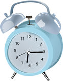 Alarm clock. A stylish retro alarm clock sounds its alarm Stock Photography