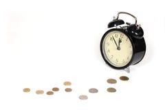 Alarm clock. Time is money Stock Photo