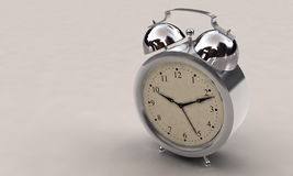 Alarm clock. 3d illustration of an alarm clock over white background stock illustration