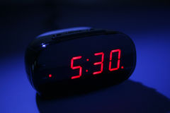 Alarm Clock. Digital Alarm Clock at Night