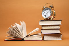 Alarm Clock And Books Royalty Free Stock Photography