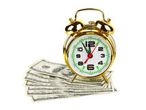 Alarm Clock And Money Stock Photography