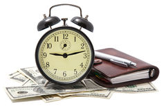 Alarm Clock And Money Isolated Stock Image