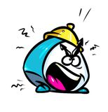 Alarm Clock attention cartoon illustration Royalty Free Stock Photo