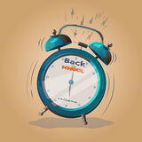 Alarm clock back to school Royalty Free Stock Images