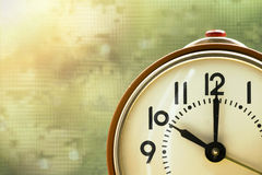 Alarm clock background Royalty Free Stock Photos