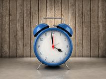 Alarm clock background. Alarm clock with wood background Royalty Free Stock Images
