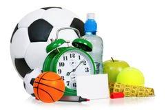 Alarm clock with balls Royalty Free Stock Photo