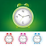 Alarm clock. Being late for work, getting up early in the morning alarm clock Royalty Free Stock Images