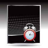 Alarm clock on black halftone advertisement Royalty Free Stock Photo