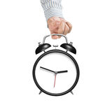 Alarm clock with blank face Royalty Free Stock Images