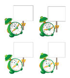 Alarm clock with blank sign. Illustration of a alarm clock with blank sign Stock Photo