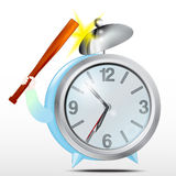Alarm clock. Blue.Vector Stock Photography