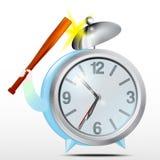 Alarm clock. Blue.Vector. Vector image Blue Alarm clock Stock Photography
