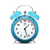 Alarm clock blue  on white - vector Royalty Free Stock Image
