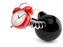 Alarm clock with bomb Stock Photography