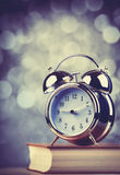 Alarm clock and book Royalty Free Stock Photo