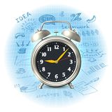 Alarm clock business strategy Royalty Free Stock Images
