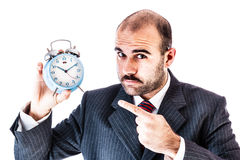 Alarm clock businessman Royalty Free Stock Image