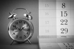 Alarm clock and calendar Royalty Free Stock Images