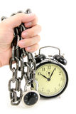 Alarm clock and chain Royalty Free Stock Photo