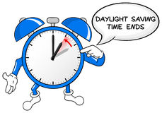 Alarm clock change to standard time. Vector illustration of a alarm clock return to standard time Royalty Free Stock Image