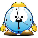Alarm clock character Royalty Free Stock Image