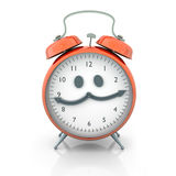 Alarm clock character Stock Images