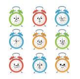 Alarm Clock Characters Mascot Set. Vector Stock Photos