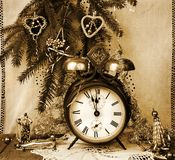 Alarm clock Christmas display Stock Photo