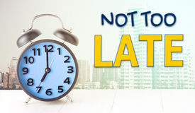 Alarm Clock in the city Not too late. Royalty Free Stock Photos
