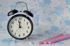 Alarm clock in classic style stock photo